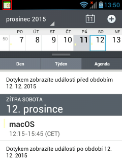 Android calendar synchronization - FORPSI