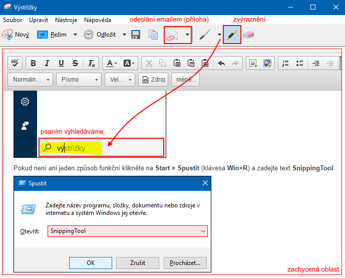 snipping tool programy
