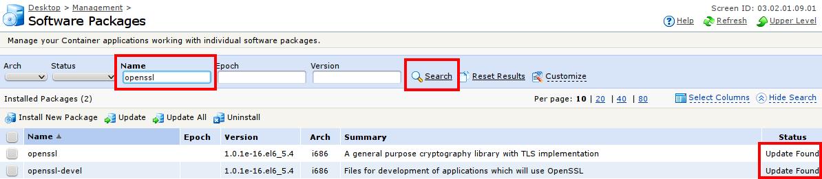 Correction of SSL critical error - FORPSI