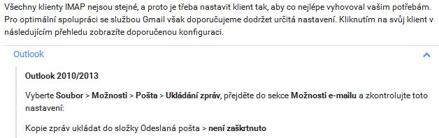 IMAp a gmail