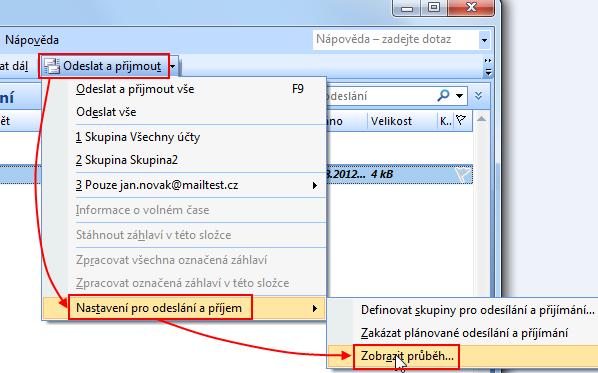 MS Outlook 2007 chybové hlášení