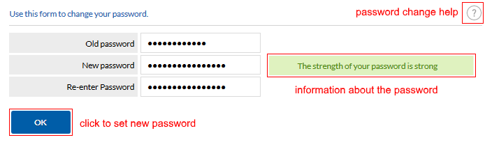 Password change form